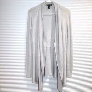 WHBM silver cover-up sweater
